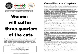 women will bear brunt of cuts a5
